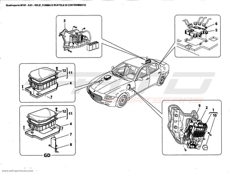 Maserati Quattroporte 4 2l Boite F1 Relays Fuses And Cases Parts At Atd Sportscars
