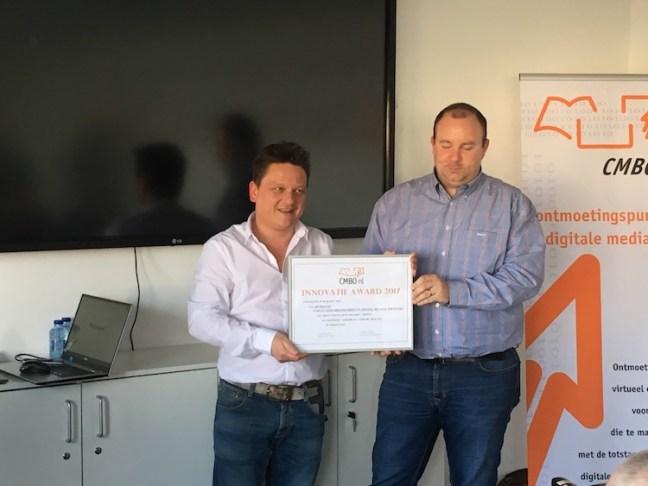 Uitreiking Innovatie Award door CMBO aan IP Digital