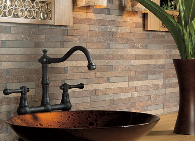 can i use wood look tile for a backsplash