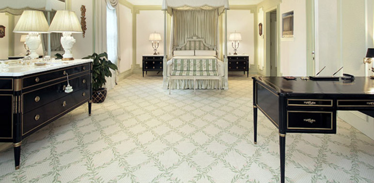 carpet installation over tiles