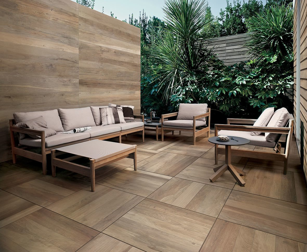can wood look floor tile be installed