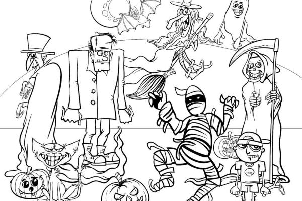 coloring pages halloween # 14