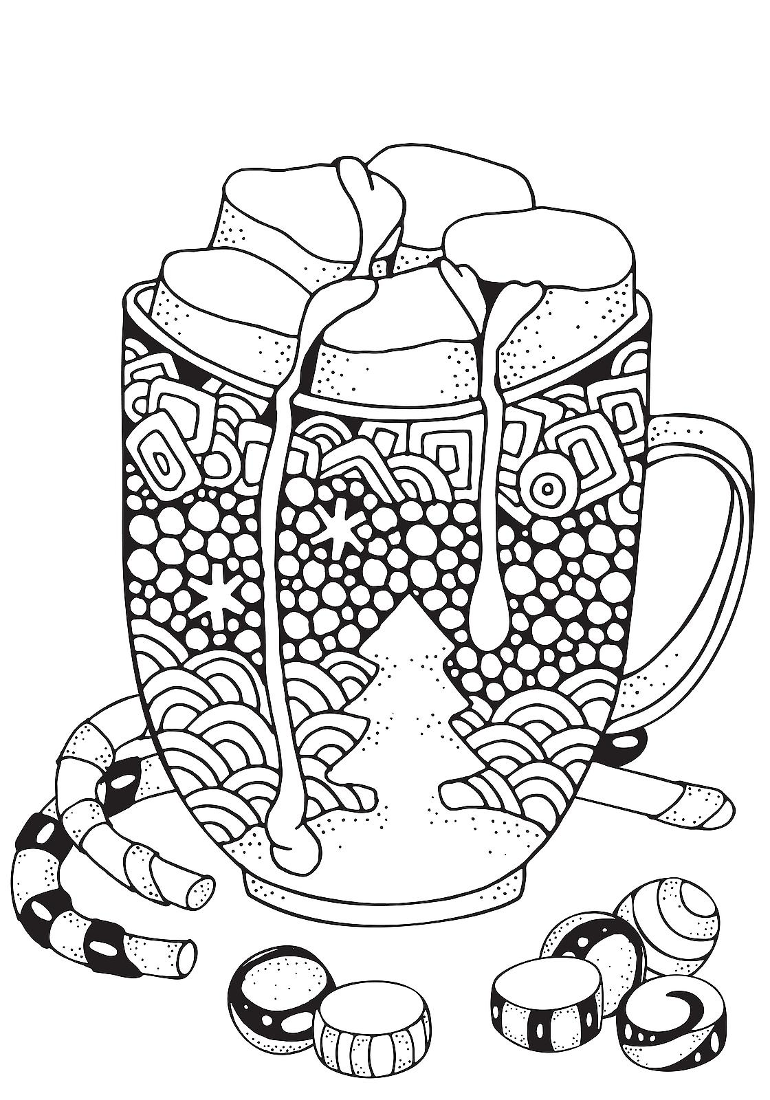 Christmas Coloring Pages for Kids & Adults: 16 Free ... | christmas coloring pages  book