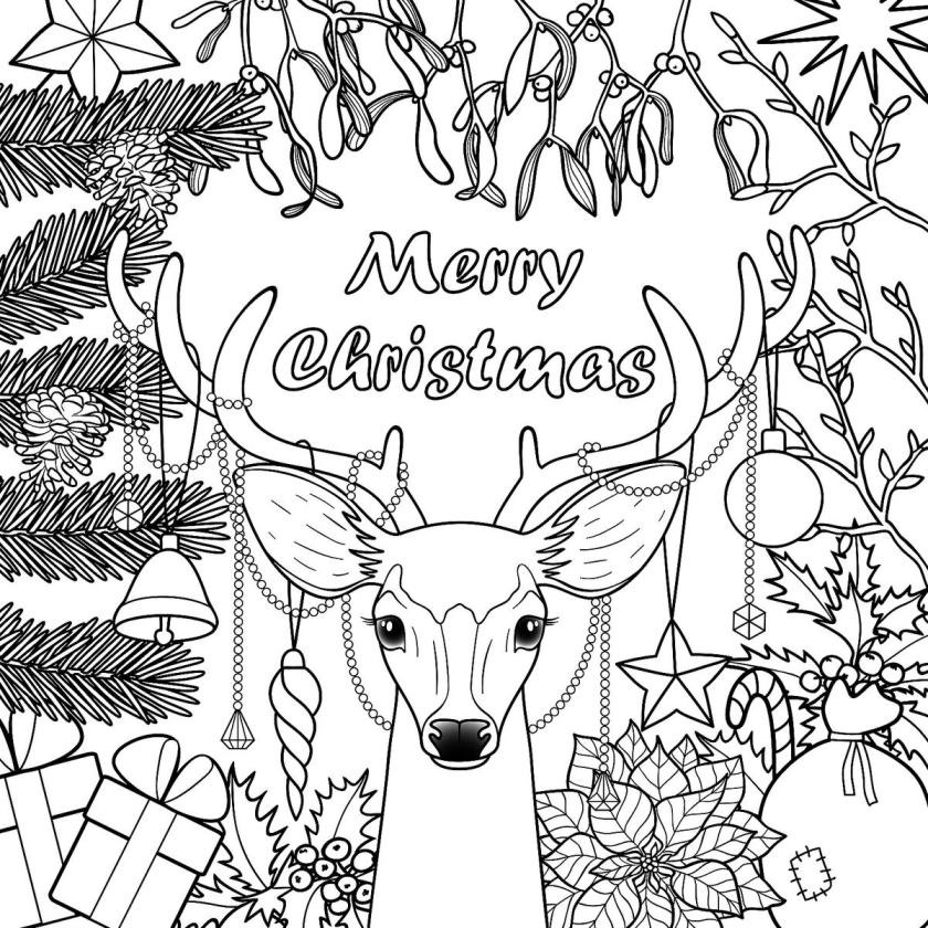 christmas coloring pages for kids & adults 16 free
