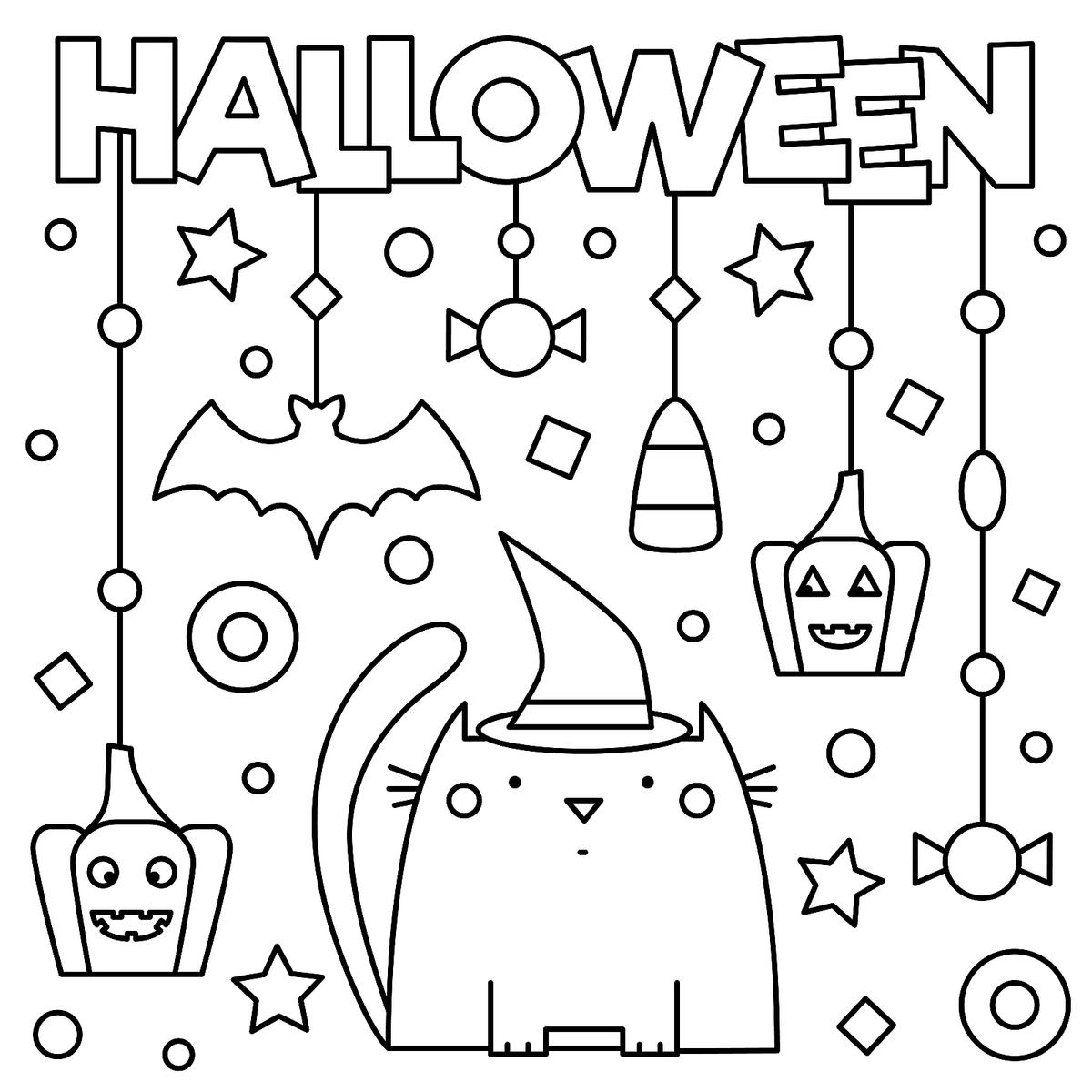 Halloween Coloring Pages 10 Free Spooky Printable