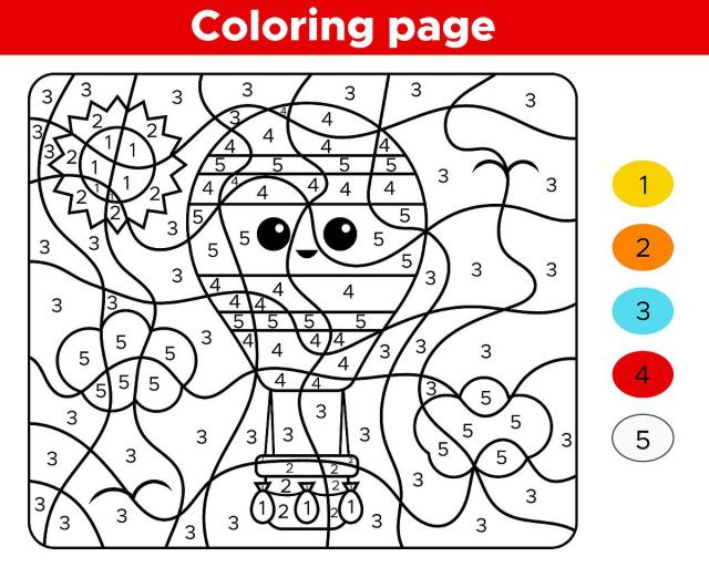 Color By Numbers Activity Pages for Kids: Free & Fun Coloring