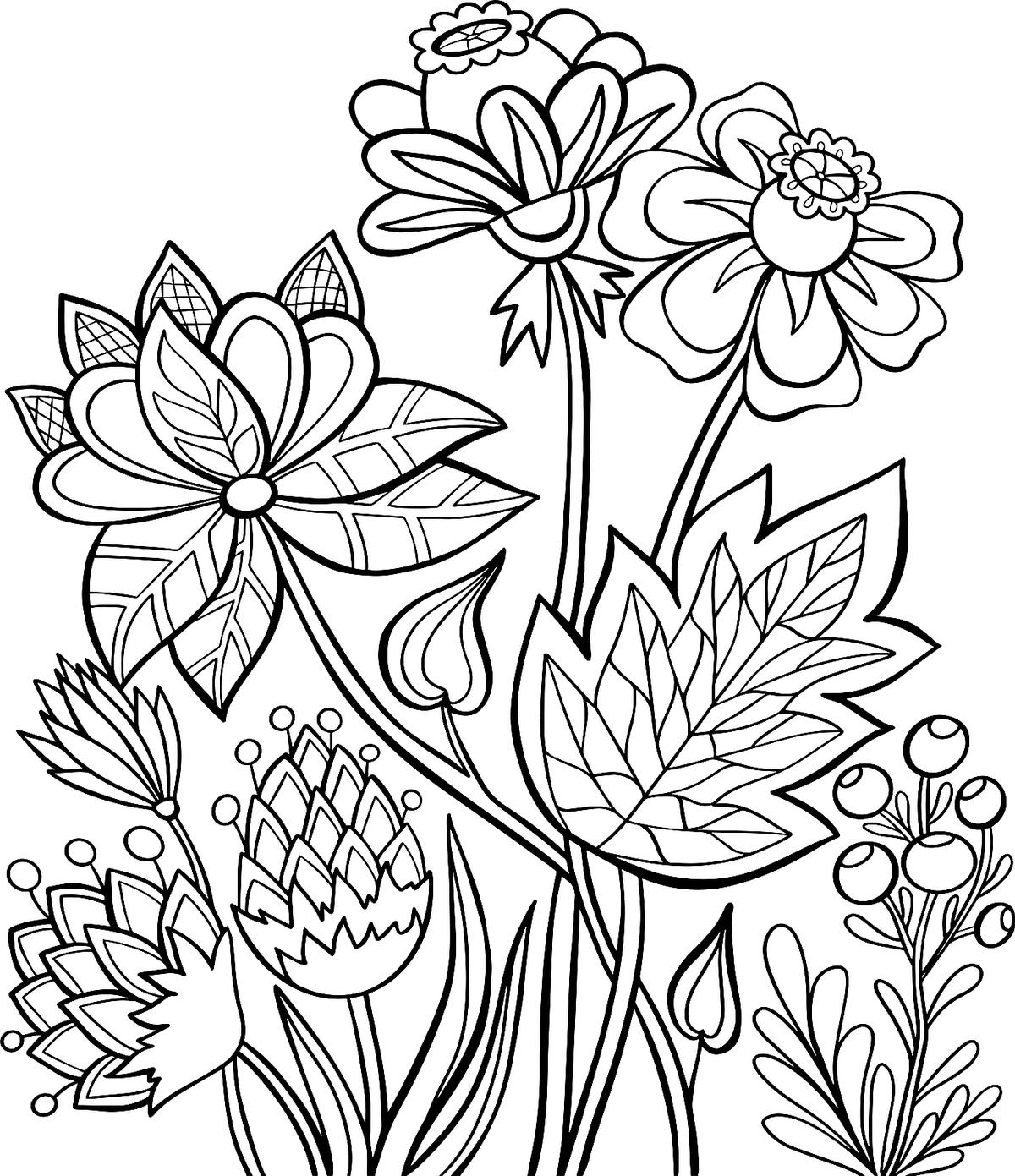 Summer Flowers Coloring Pages 10 Free Amp Fun Printable
