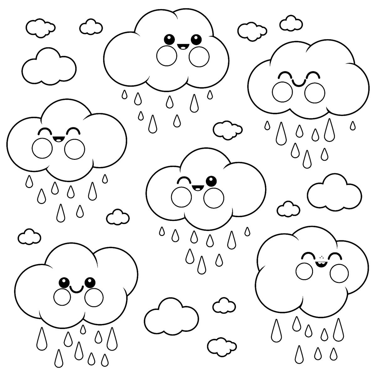 Weather Coloring Pages For Kids Fun Amp Free Printable