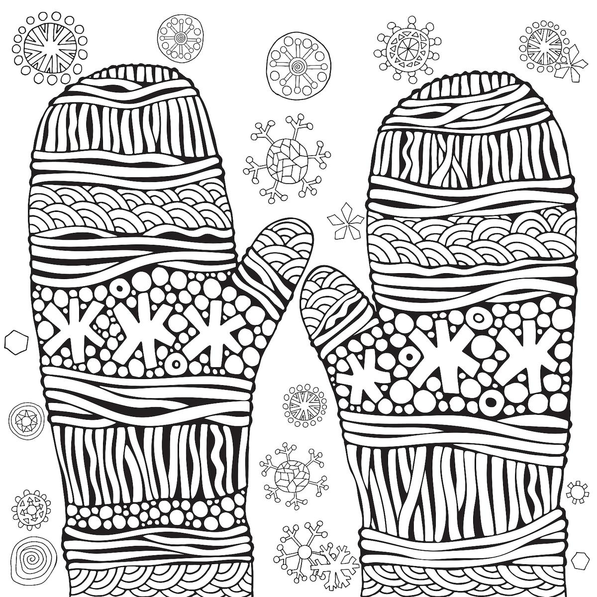 Winter Puzzle & Coloring Pages: Printable Winter-Themed ...   winter coloring pages adults