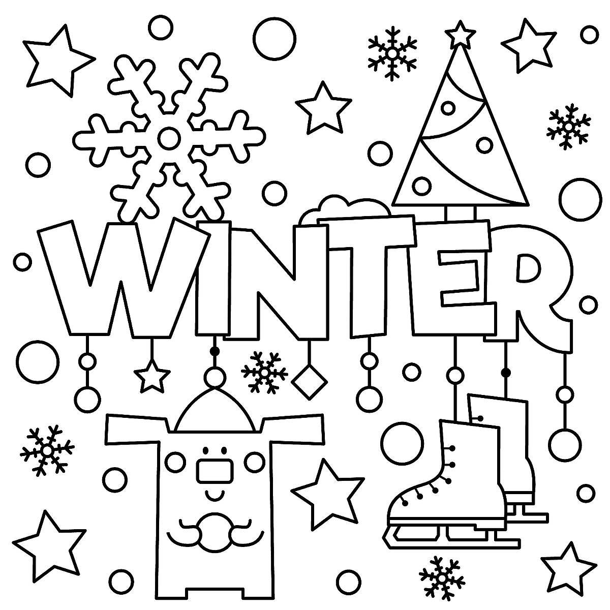 Winter Puzzle Amp Coloring Pages Printable Winter Themed Activity Pages For Kids