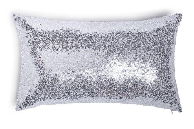 buy argos home sequin cushion silver cushions argos
