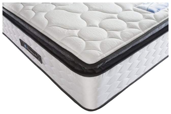buy sealy repose pillowtop memory foam double mattress mattresses argos