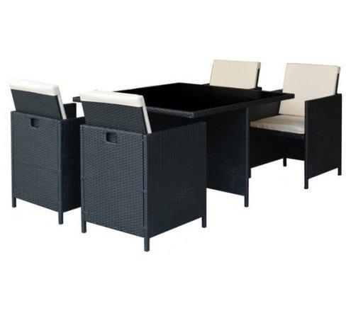 buy argos home cube 4 seater rattan effect patio set black patio sets argos