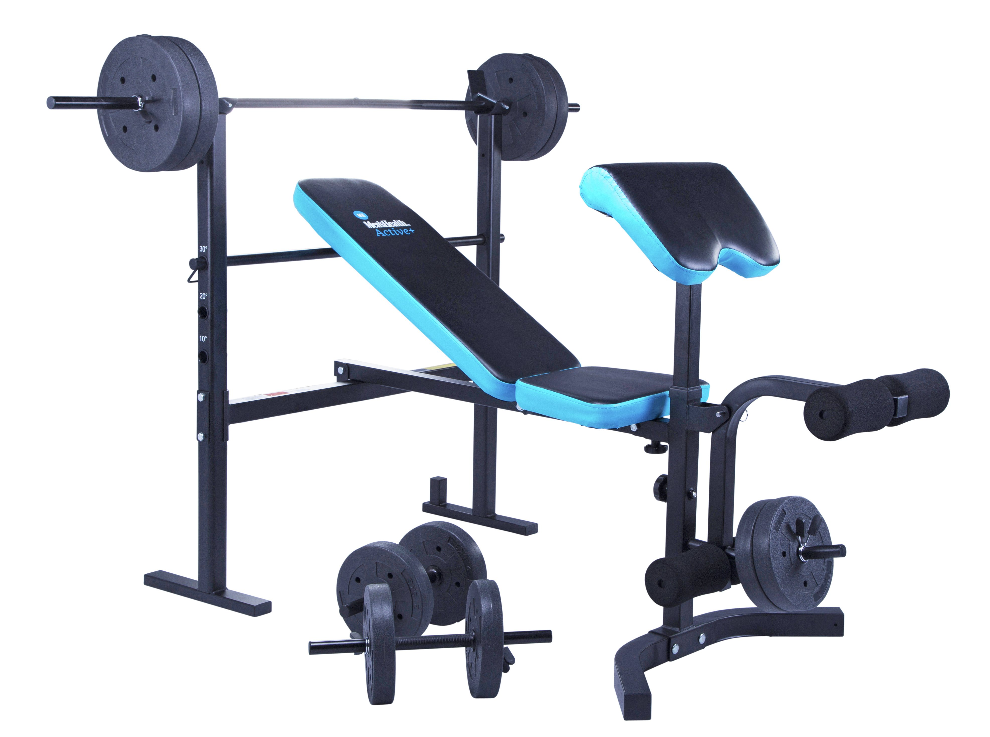 163 109 99 Men S Health Folding Workout Bench With 35kg