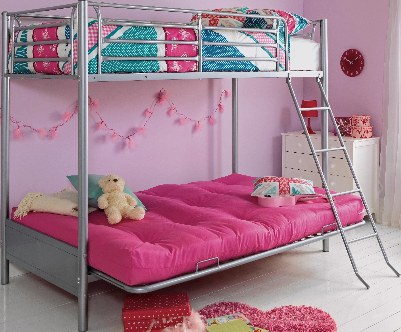 Buy Argos Home Metal Bunk Bed Frame With Futon Fuchsia