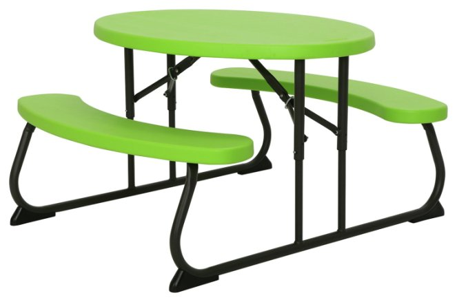 buy lifetime children s oval 4 seater picnic table green patio sets argos