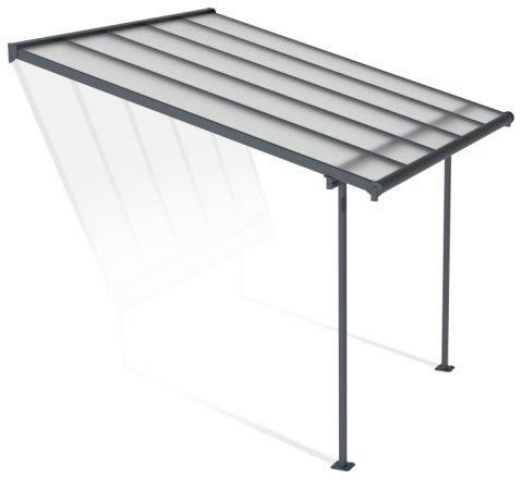 buy palram sierra 3 x 3 05m patio cover grey clear garden furniture covers argos
