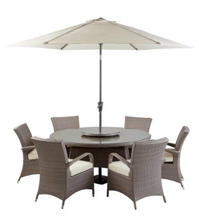 buy argos home seychelles 6 seater rattan effect patio set grey patio sets argos