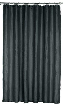 buy argos home plain shower curtain jet black shower curtains argos