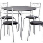 Argos Home Oslo Round Dining Table 4 Chairs Black 8437431 Argos Price Tracker Pricehistory Co Uk