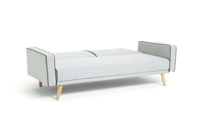 buy habitat frankie 2 seater clic clac sofa bed grey sofabeds habitat