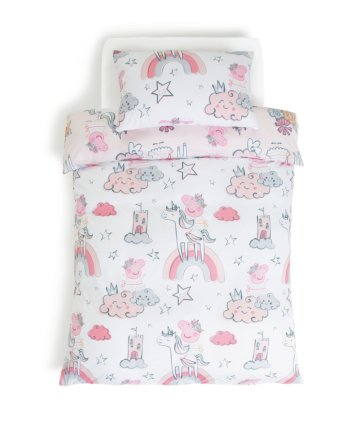 Buy Peppa Pig Ballerina Unicorn Children S Bedding Set Single Kids Bedding Argos