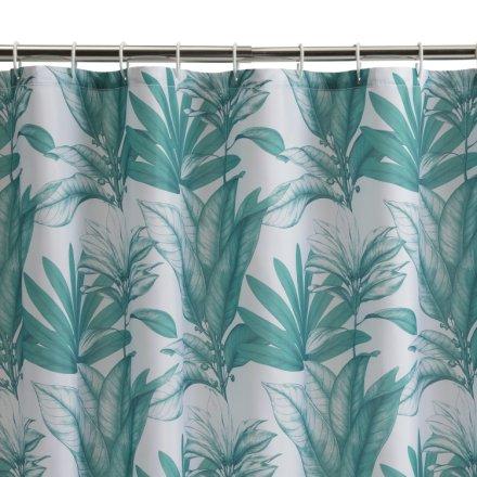 buy habitat leaf shower curtain green shower curtains argos
