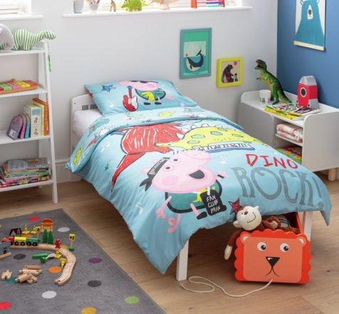 Buy Peppa Pig George Pig Dino Rock Bedding Set Toddler Kids Bedding Argos