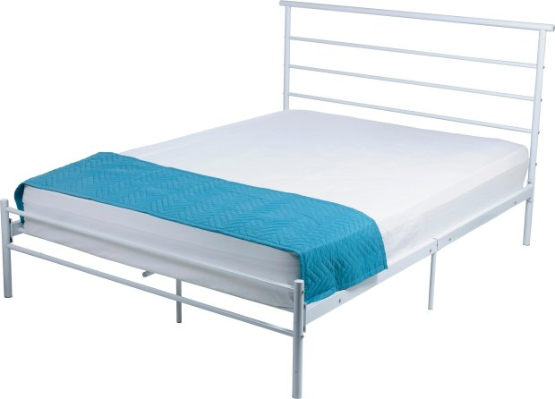 Buy HOME Avalon Double Bed Frame White At