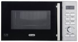 microwave with stainless steel interior