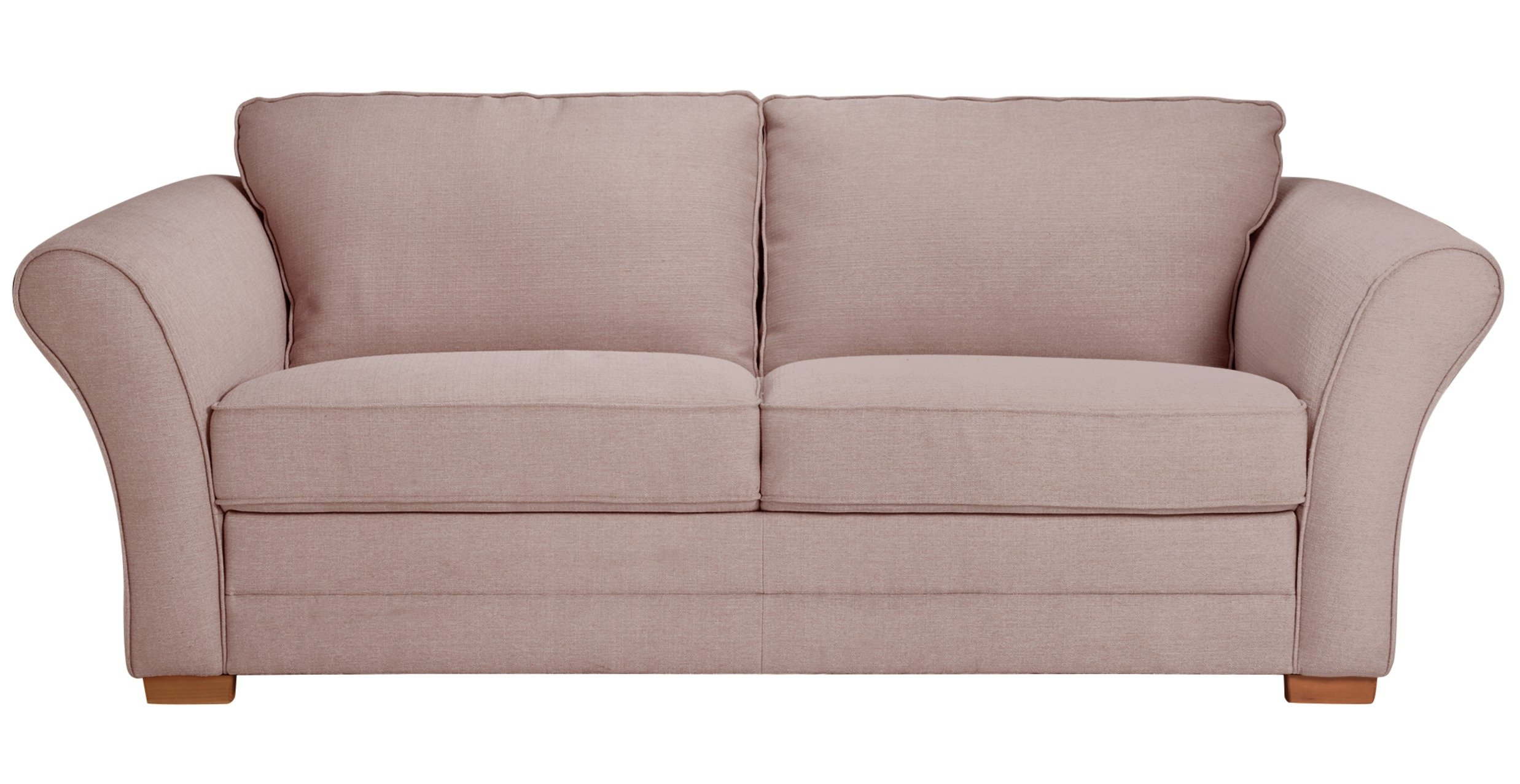 Sofa Beds  Chair Beds   Futons   Bed Settees   Argos   page 3 Argos Home Thornton 3 Seater Fabric Sofa Bed   Old Rose