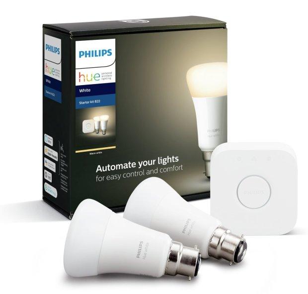 buy philips hue starter kit with white b22 bulb smart lighting kits argos