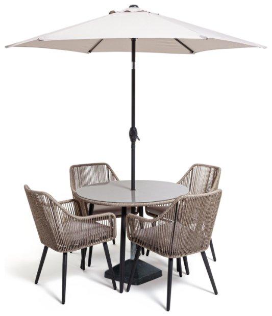 buy habitat malta 4 seater patio set neutral garden furniture sets habitat