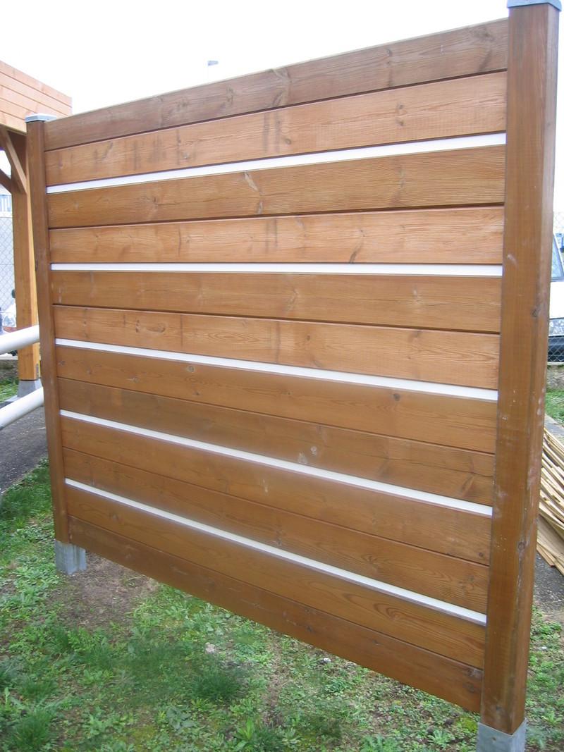 cloture bois en h poteau h 90 x 90 mm