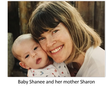 Baby Shanee with mother