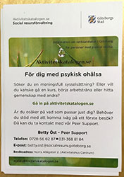 Flyer med Peer Support (A5)