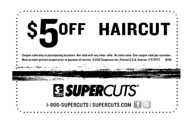 Supercuts 5 Off Haircut Printable Coupon