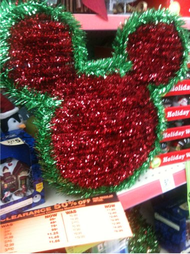 walgreens 50 off christmas mickey metal wreath 3 99 repurpose