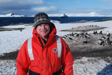 Dr. Jim McClintock, in Antarctica.  A professor at the University of Alabama-Birmingham