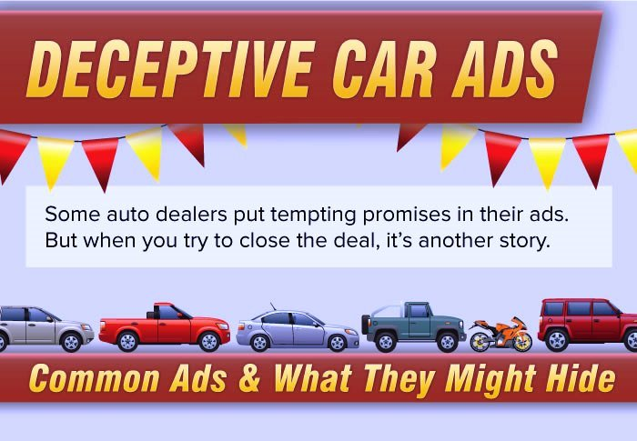 False And Deceptive Advertising Examples Car