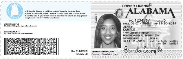 Temporary Alabama License