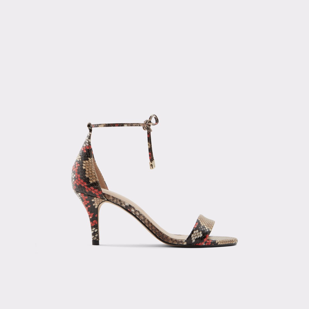 Afawiel Brown Multi Women S Heeled Sandals