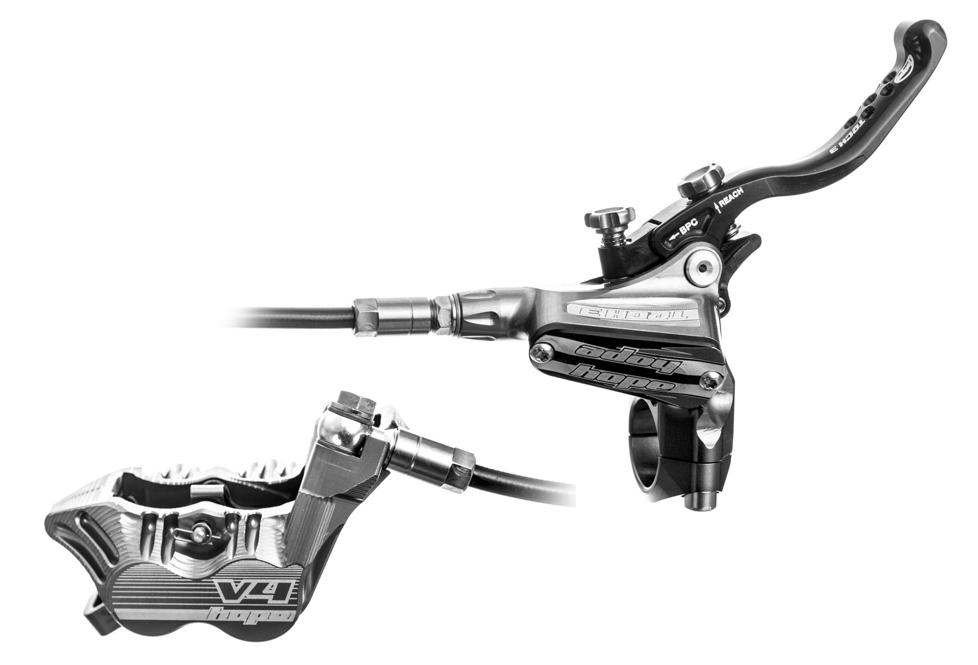 Hope Rear Disc Brake Tech 3 V4 Silver Standard Hose