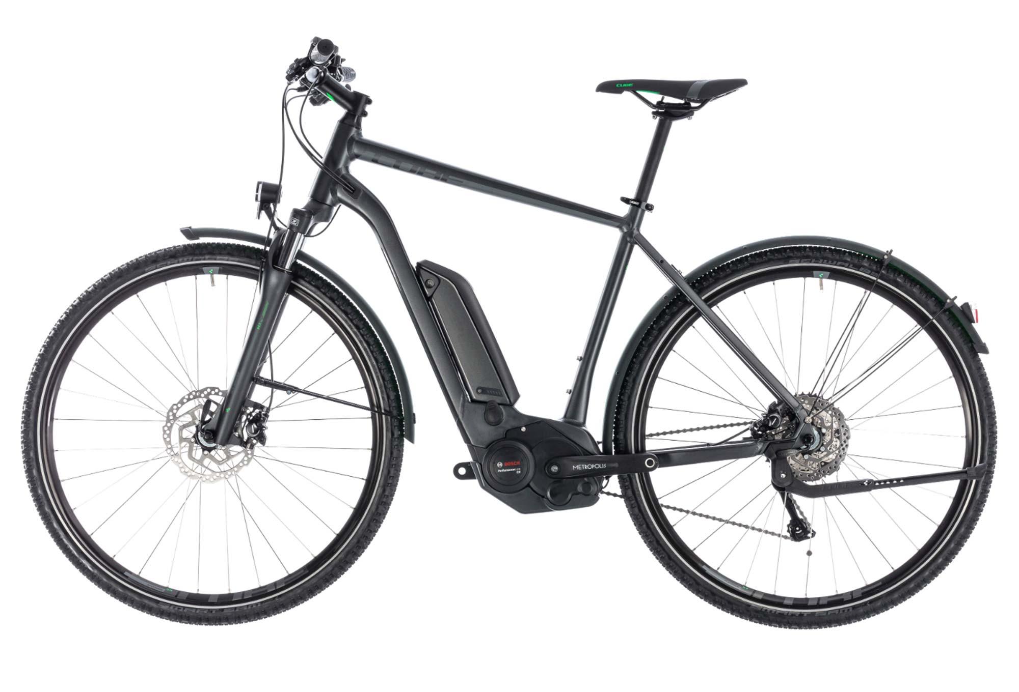 Cube Cross Hybrid Pro Allroad 500 Hybrid Touring Bike 700 Mm Shimano Deore 10s Grey Green