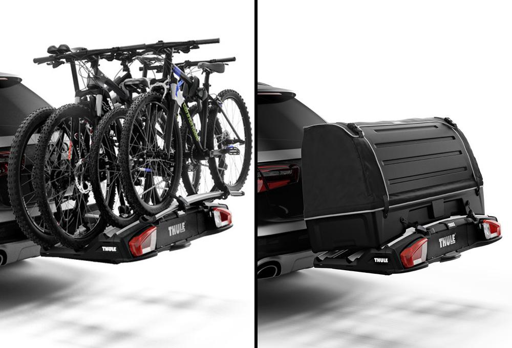 thule velospace xt 3 hitch mounted bike carrier 3 bikes