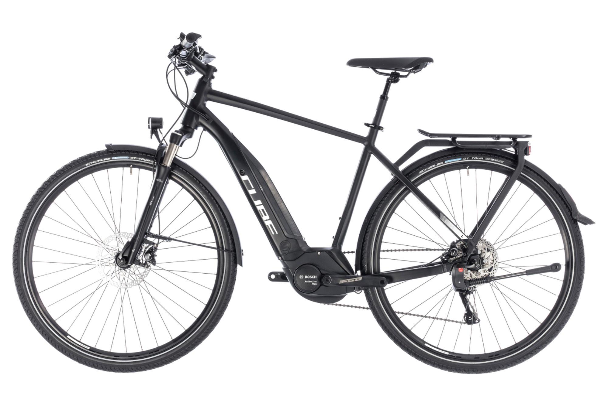 Cube Touring Hybrid Pro 500 Hybrid Touring Bike Shimano Deore M 10s Black White