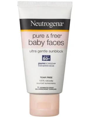 Neutrogena Pure Amp Free Baby Faces Ultra Gentle Sunblock