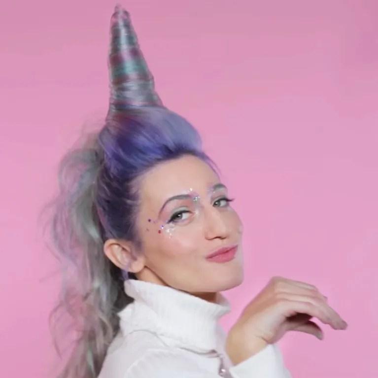 This Unicorn Hair Tutorial Involves An Actual Horn Allure