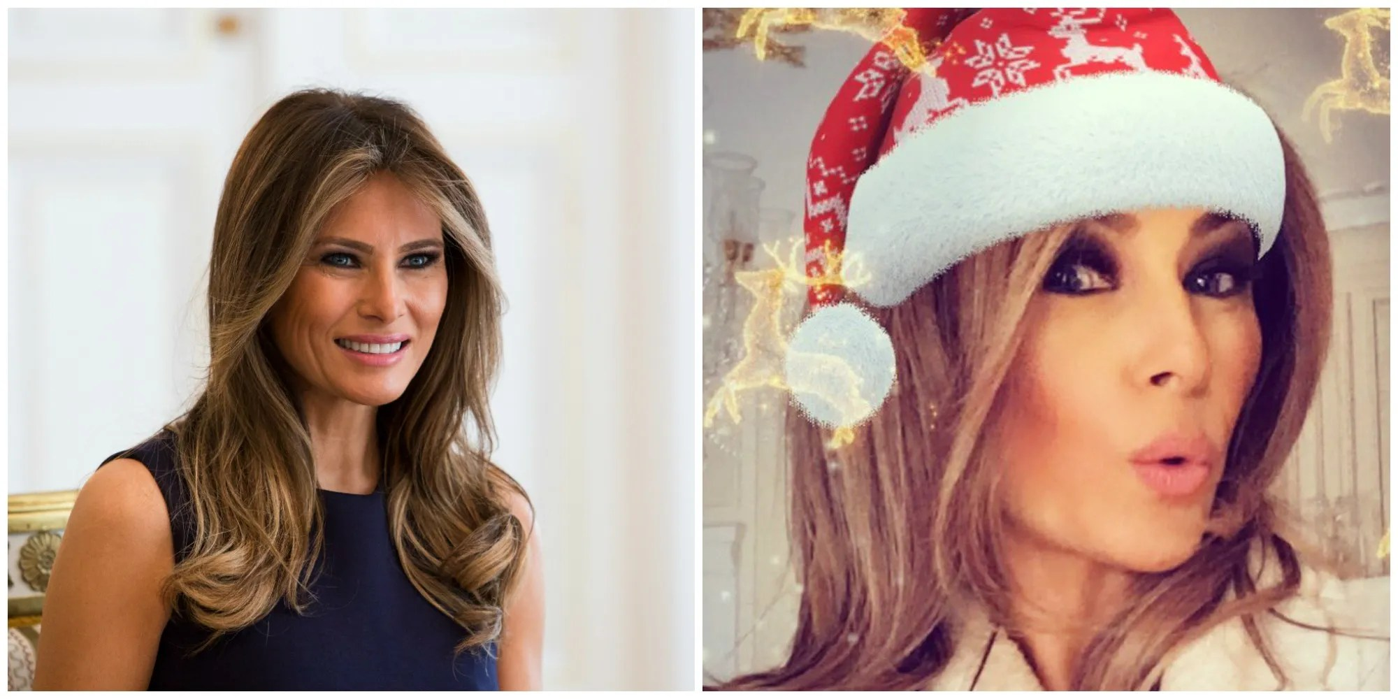 Melania Trump Got Dragged For Her Christmas Selfie Allure