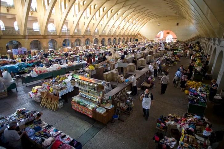 Central Bazaar fruit and vegetable market in Yerevan, Armenia